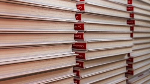 german books book stack