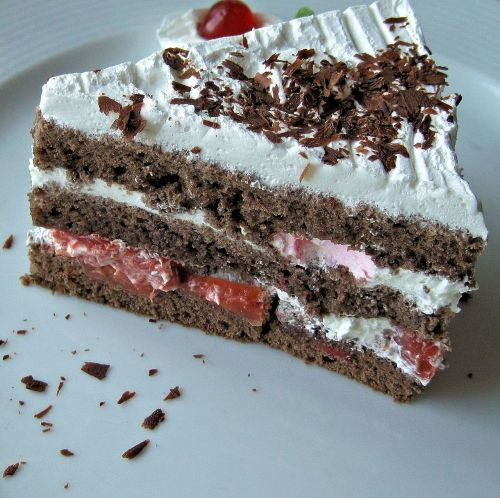 german black forest cake cake piece of cake