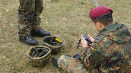german soldier sit grass