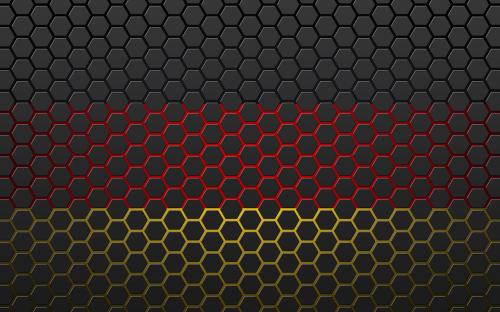 germany flag hexagon