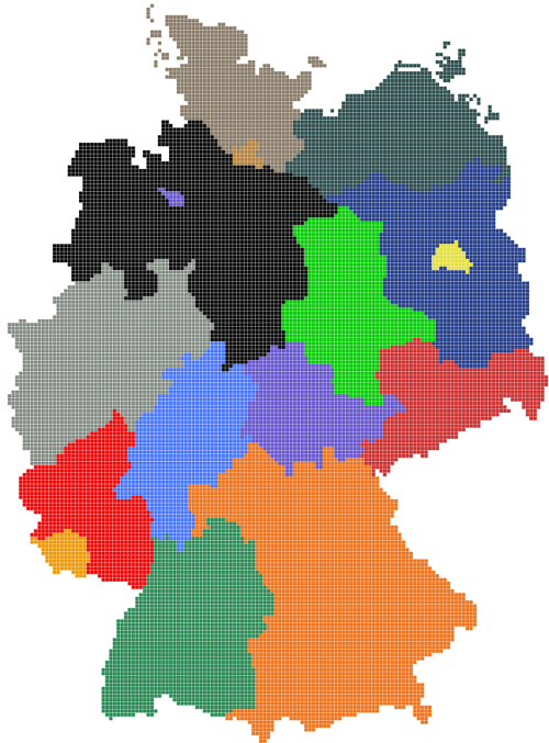 germany map regions