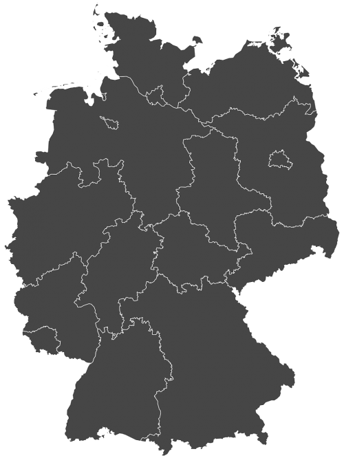 germany silhouette regions