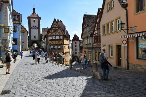 germany rothenburg fortified village