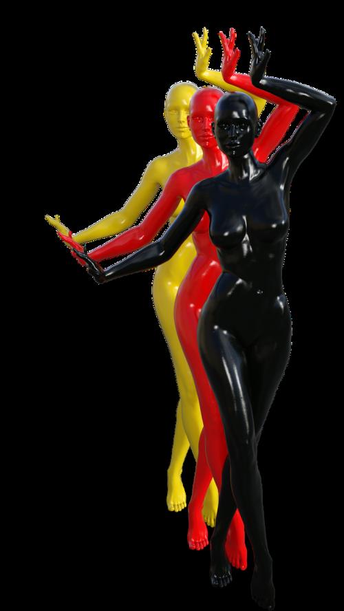 germany woman menschenguppe