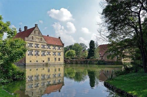 germany  burg hülshoff  wasserburg