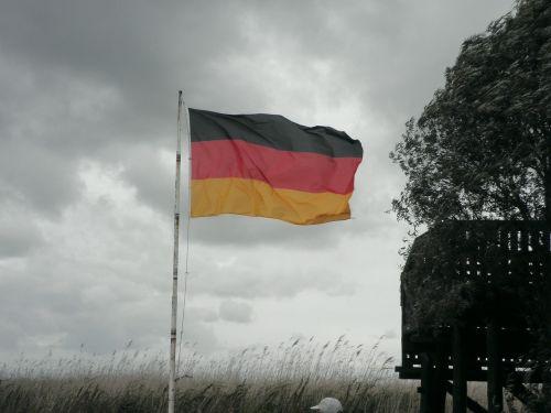 germany flag black red gold