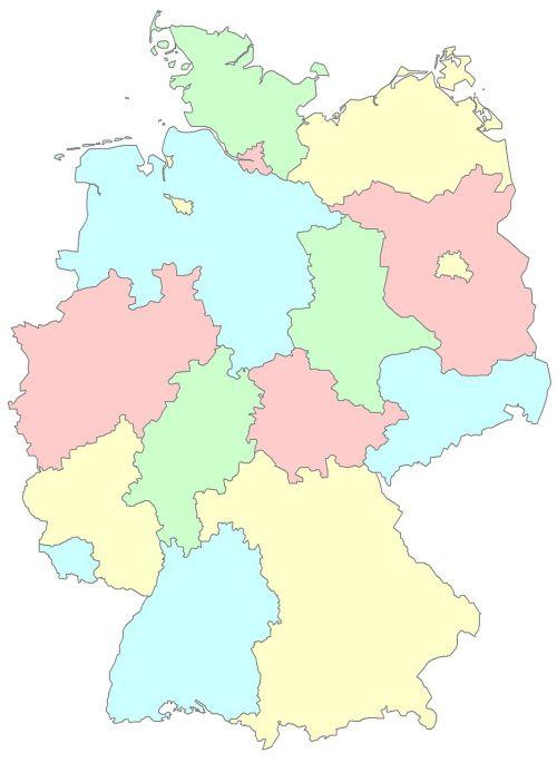 germany länder regions germany germany map