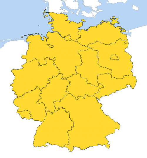 germany map all provinces land borders
