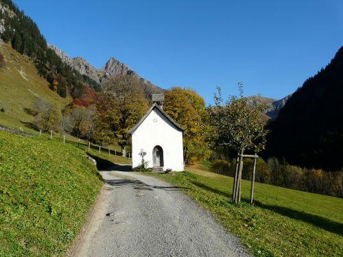 gerstruben chapel postkartenmotiv