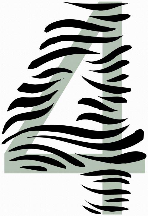 Number 4 Zebra