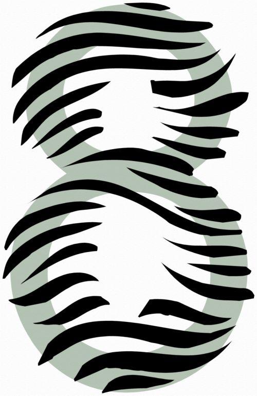 Number 8 Zebra