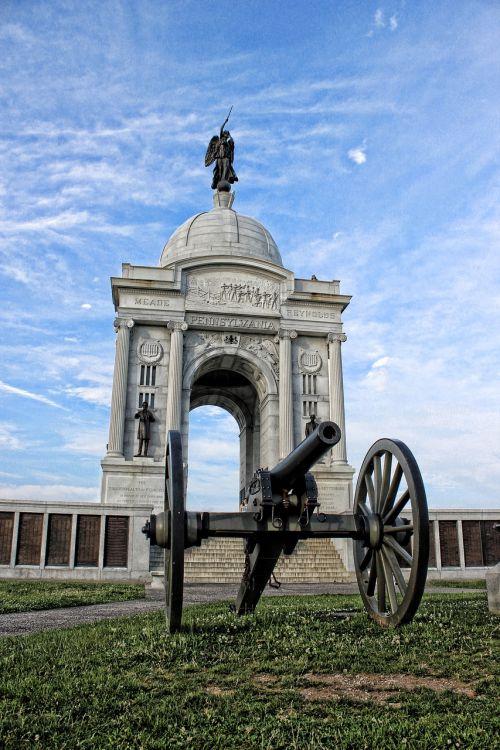 Gettysburg,paminklas,statula,karas,istorija,paminklas,parkas,civilinis,kariuomenė,architektūra,pennsylvania,orientyras,mūšis,valstijos,amerikietis,nacionalinis,mūšio laukas