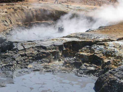 geyser iceland fire