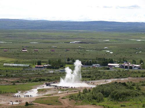 geyser iceland landscape
