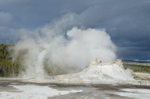 geyser castle geyser yellowstone
