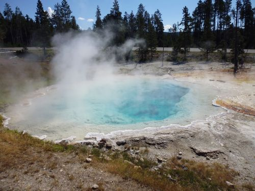 geyser yellow steam