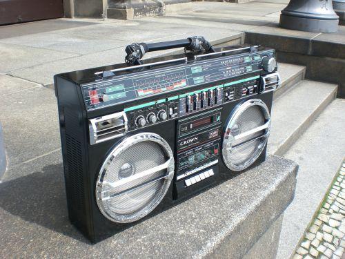 ghettoblaster boombox old school