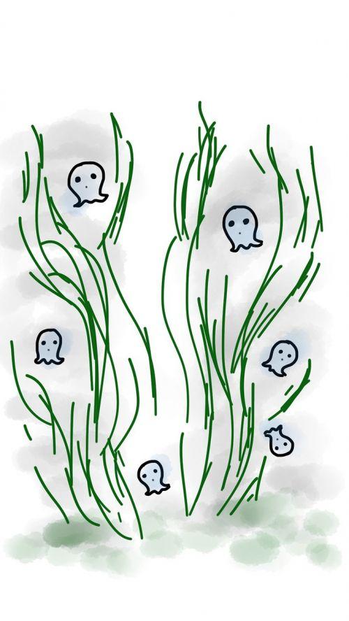 ghost grass halloween