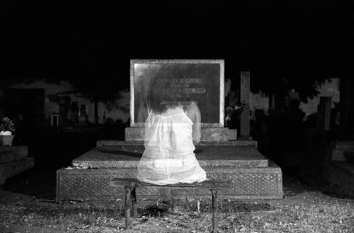 ghost black and white dark