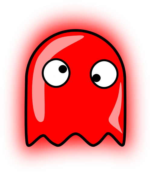 ghost,pacman,pac-man,funny,free vector graphics
