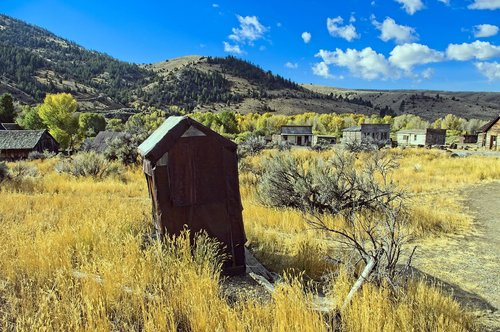 ghost town of bannack  bannack state park  bannack