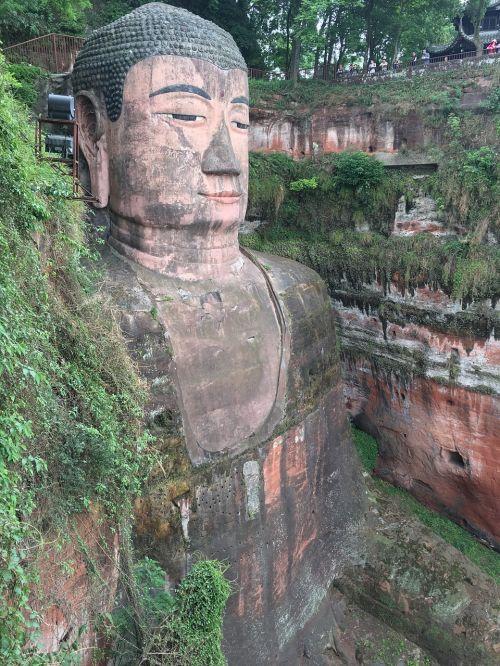 milžinė buda,sichuanas,Kinija,Pietvakarių Kinija,Sičuano provincija,šventė,kelionė,subtropics,buda