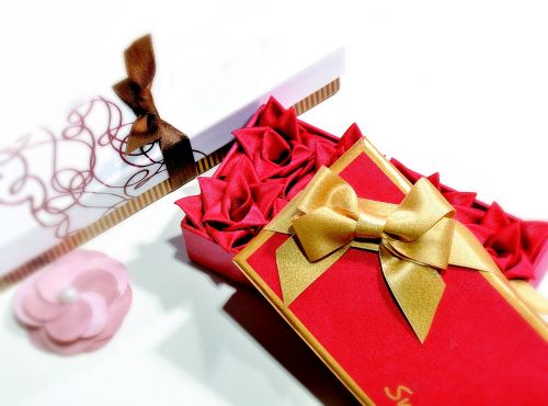 gift ribbon flower golden ribbon