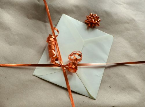gift wrapping paper envelope