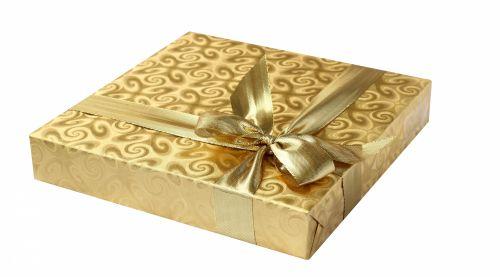 Gift Box Gold Ribbon