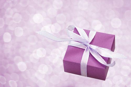Gift Box Purple Bokeh