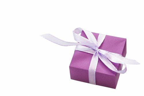 Gift Box Purple Ribbon