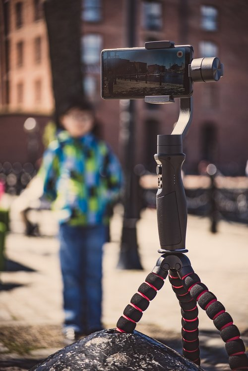gimbal  taking pictures  making videos