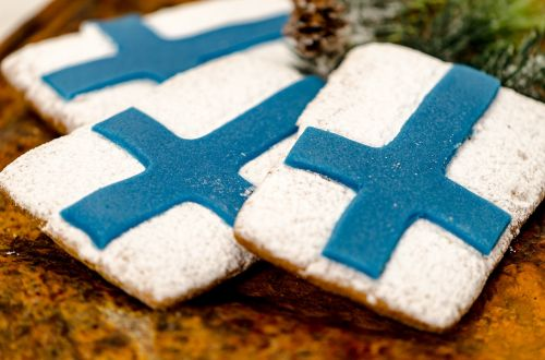 gingerbread cookie flag of finland