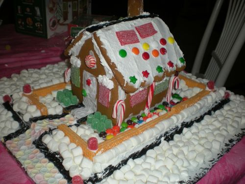 gingerbread house marshmallow art cookies