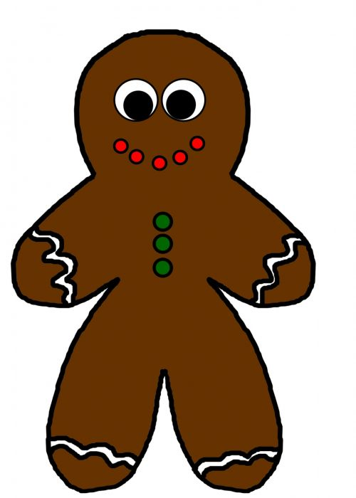 Gingerbread Person With Decorations