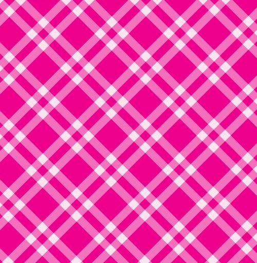 Gingham Checks Pink Background
