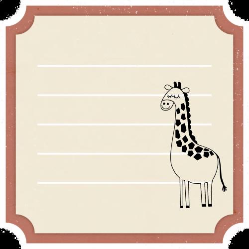 giraffe kids animal