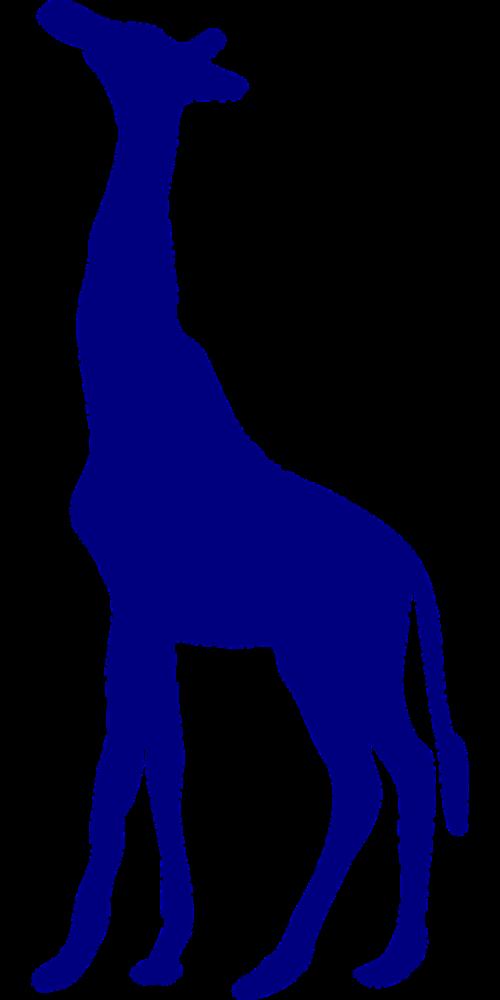giraffe purple silhouette