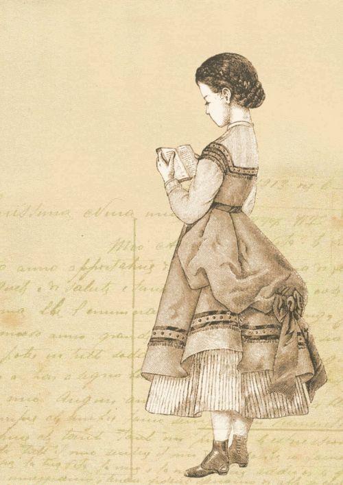 girl vintage victorian