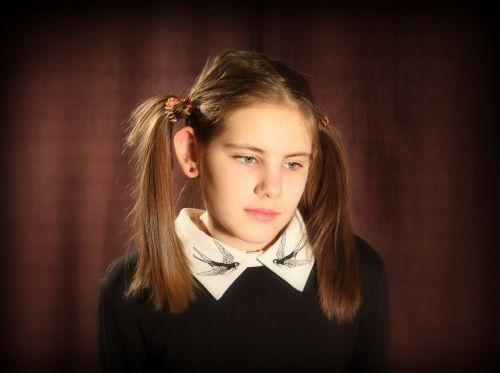 girl schoolboy pigtails