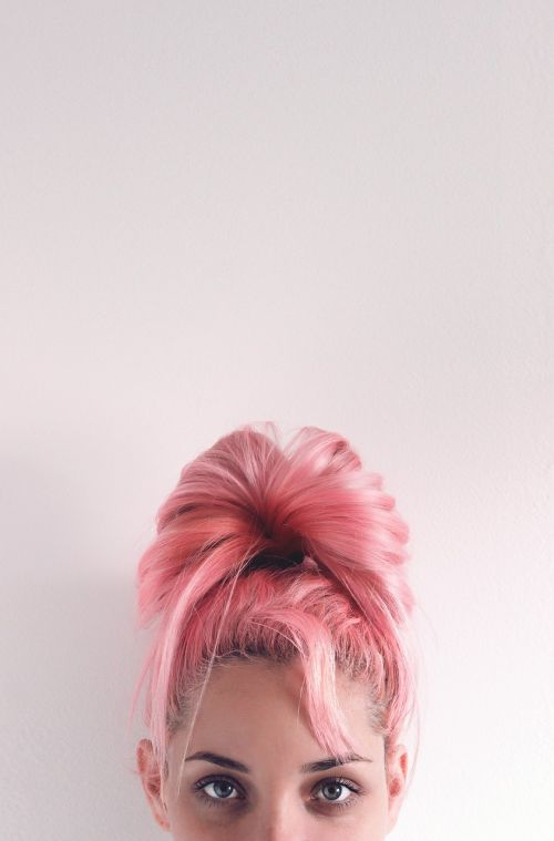 girl pink woman