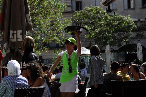 girl waitress terrace