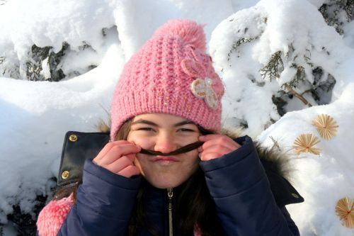 girl mustache rip