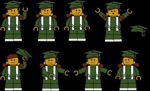girl graduation green