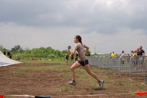 girl woman run