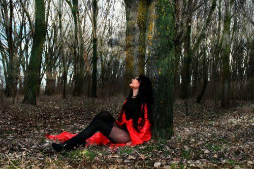 girl red sensual