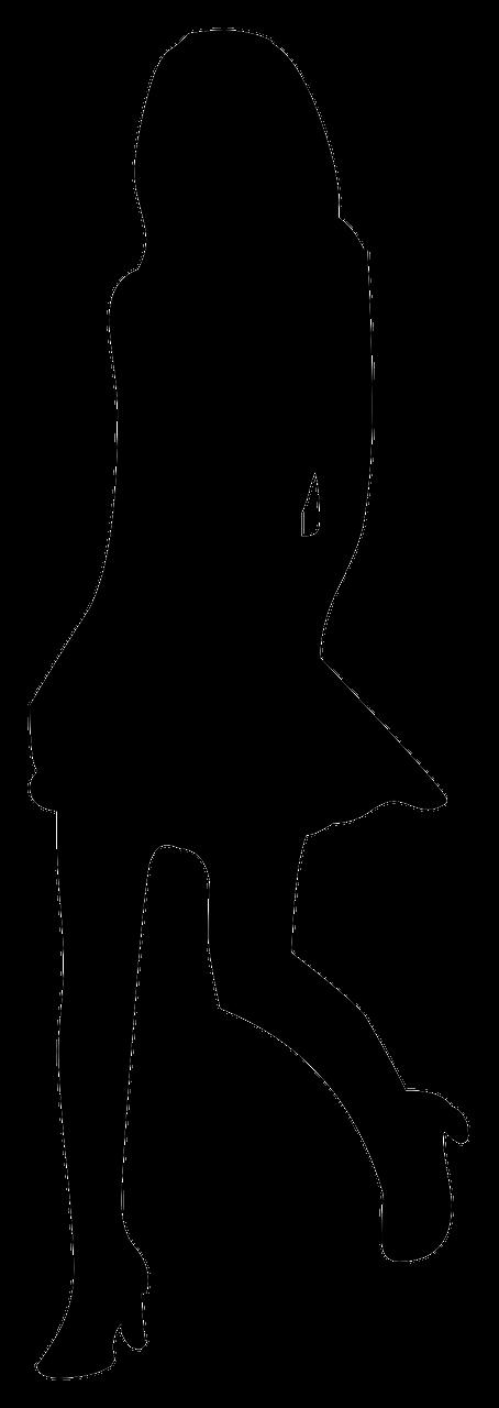 girl silhouette dress