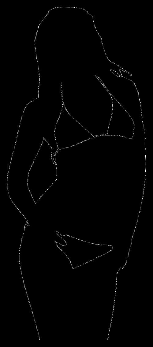 girl bikini beach silhouette