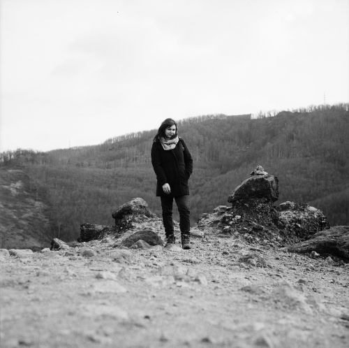 girl portrait hiking