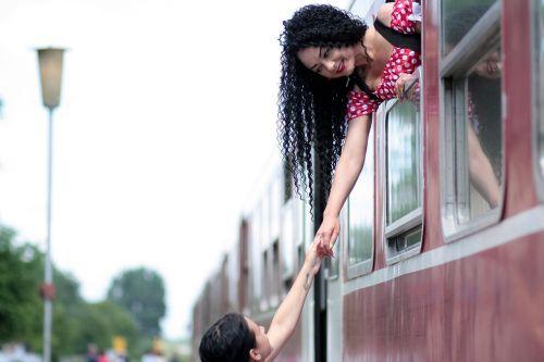 girl train departure